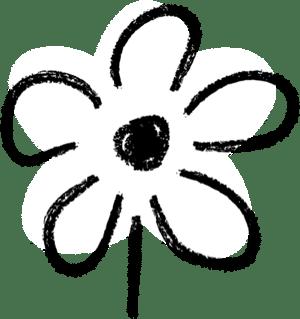 Bold illustration flower